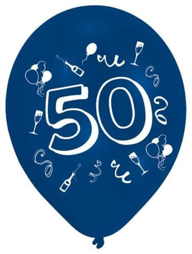 Age 50 Latex Balloons