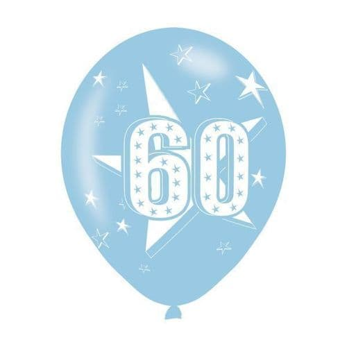 Age 60 Assorted Colours Latex Balloons