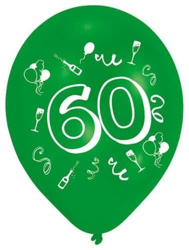 Age 60 Latex Balloons