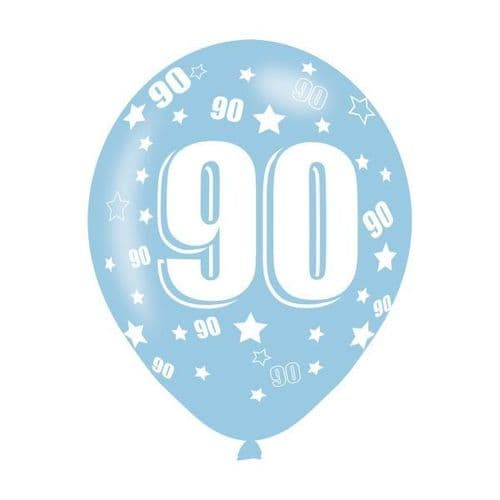 Age 90 Assorted Colours Latex Balloons