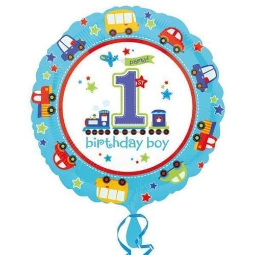 All Aboard Birthday  Standard Foil Balloon