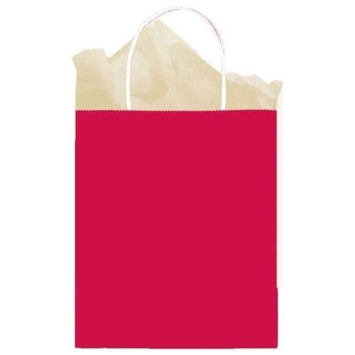 Apple Red Paper Gift Bags 25cm x 20cm x 10cm