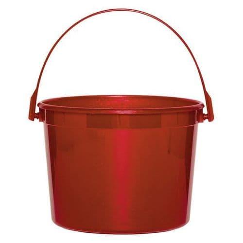 Apple Red Plastic Bucket