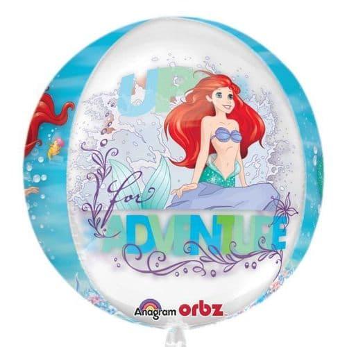 """Ariel Dream Big Clear Orbz Foil Balloon 15"""" x 16"""""""