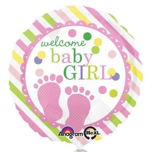 Baby Feet Girl Standard Foil Balloon