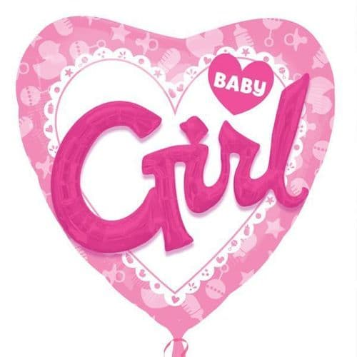 "Baby Girl Multi Foil Balloon 53"" x 39"""
