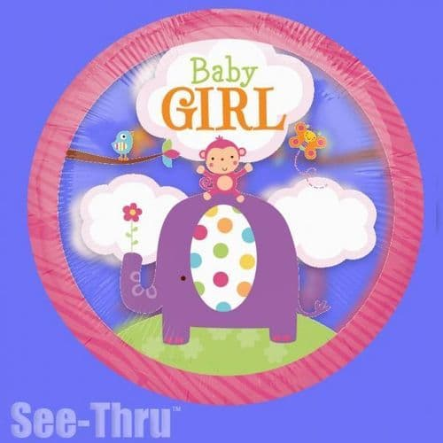 "Baby Girl Safari Sweet Foil Balloon  26"""