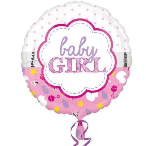 Baby Girl Scallop Standard Foil Balloon