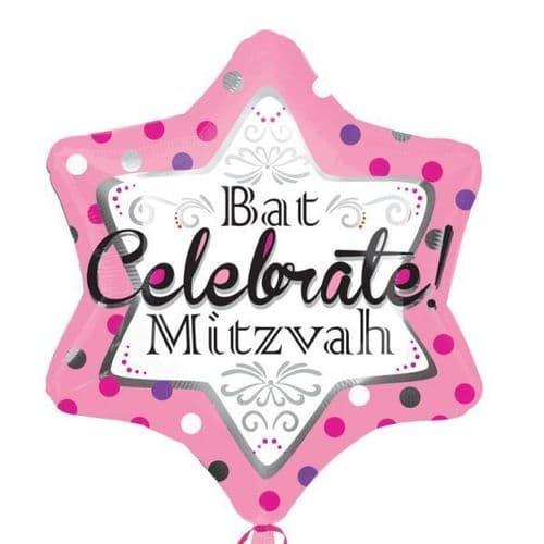 Bah Mitzvah Pink  Standard Foil Balloon