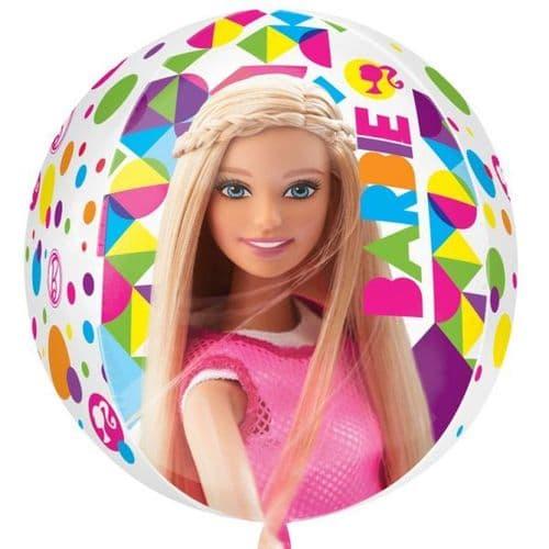 """Barbie Sparkle Orbz Foil Balloon 15"""" x 16"""""""