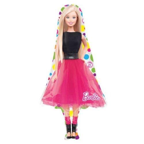 """Barbie Sparkle SuperShape Foil Ballloon 21"""" x 42"""""""