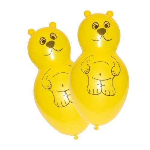 Bear Shaped Latex Balloons 4 per pack.