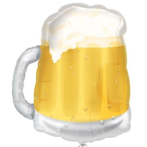 "Beer Mug See-Thru SuperShape Foil Balloon 20"" x 23"""