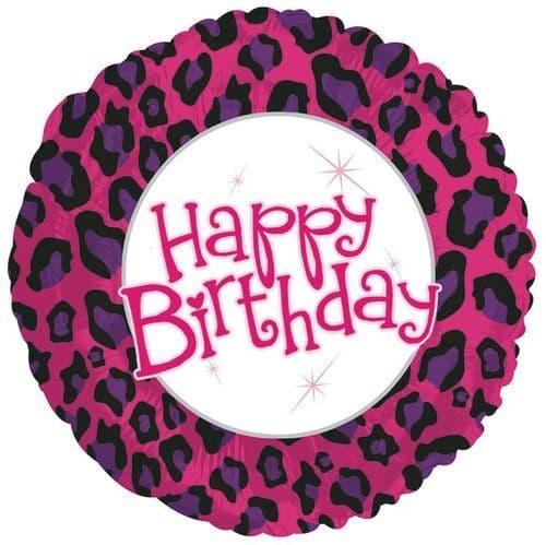 Birthday Animal Print Foil Balloon