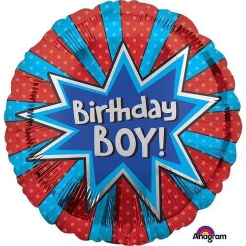 Birthday Boy Burst Standard Foil Balloon