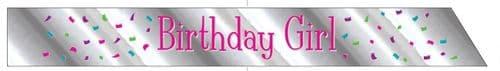 Birthday Girl Foil Sash