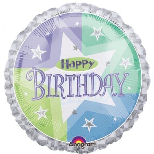 Birthday Shimmer Prismatic Foil Balloon