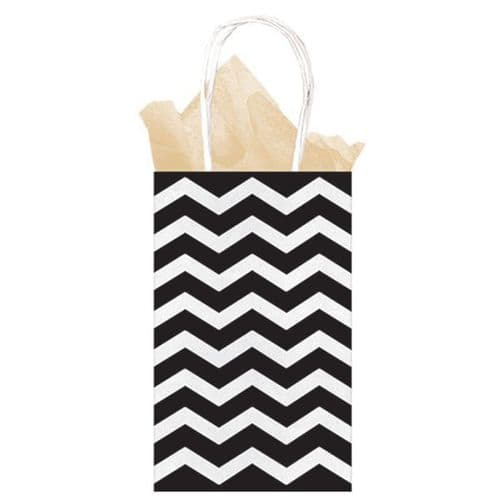 Black Chevron Paper Gift Bags 21cm x 13cm x 9cm