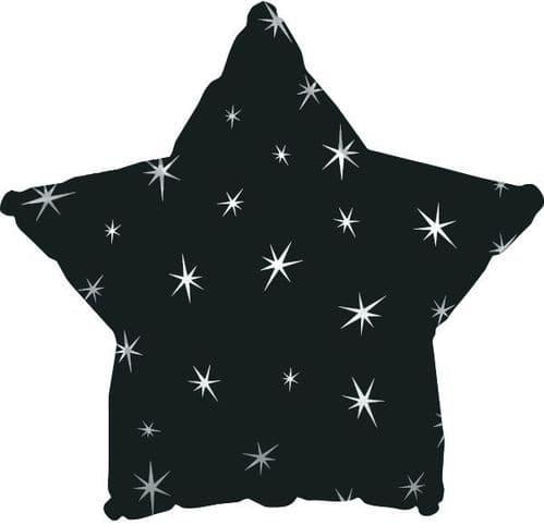 Black Sparkle Star Foil