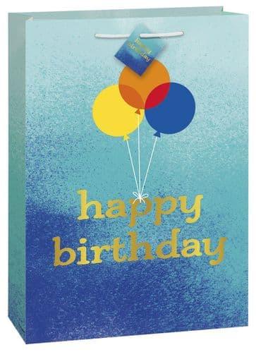 Blue Ombre Happy Birthday Giftbag-Jmbo