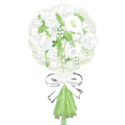 """Bouquet For the Bride SuperShape Foil Balloon 18"""" x 30"""""""
