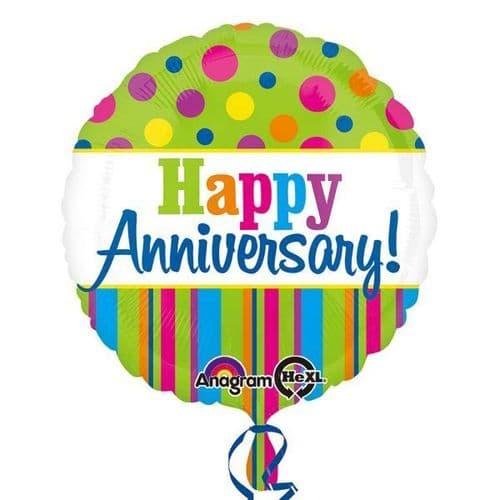 Bright Anniversary Standard Foil Balloon