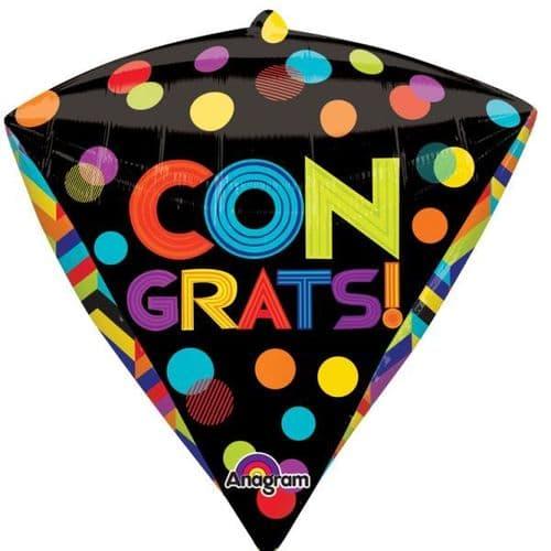 Bright Dots Congrats Diamondz Foil Balloon