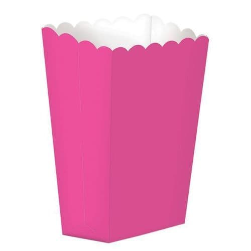 Bright Pink Large Paper Popcorn Boxes/10