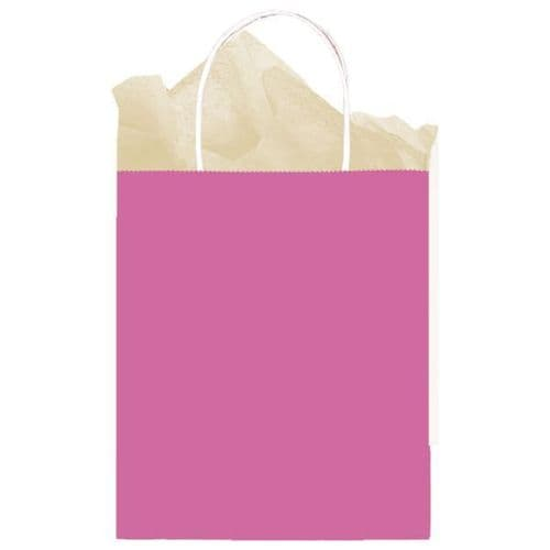 Bright Pink Paper Gift Bags 25cm x 20cm x 10cm
