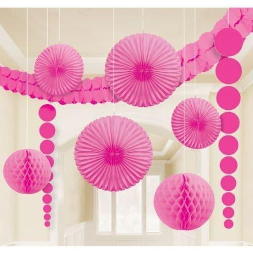 Bright Pink Room Kit Decorations