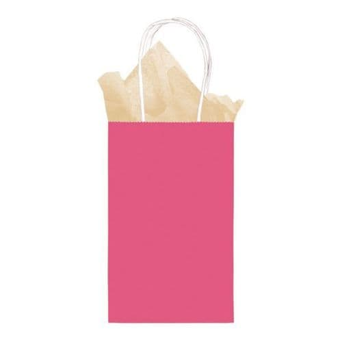Bright Pink Small Gift Paper Bags