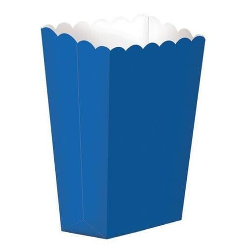 Bright Royal Blue Large Paper Popcorn Boxes/10