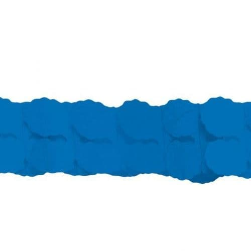 Bright Royal Blue Paper Garlands 3.65m