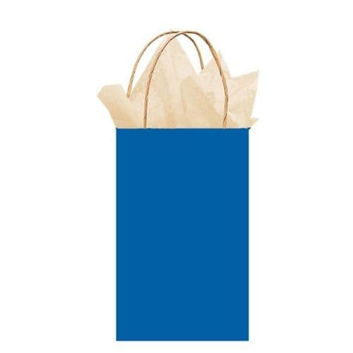 Bright Royal Blue Paper Gift Bags 21cm x 13cm x 9cm