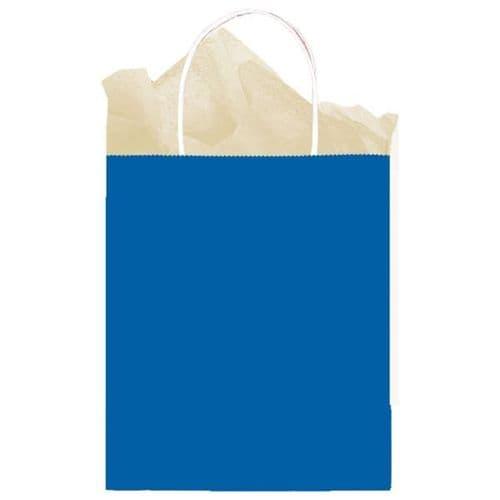 Bright Royal Blue Paper Gift Bags 25cm x 20cm x 10cm