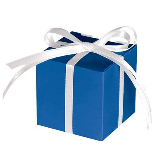 Bright Royal Blue Paper Treat Boxes 12 per pack.