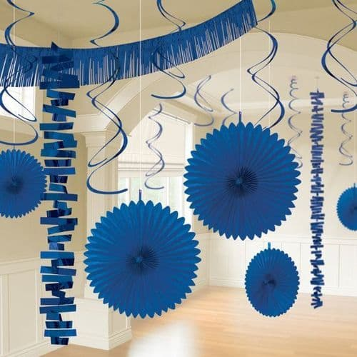 Bright Royal Blue Room Decoration Kit/18