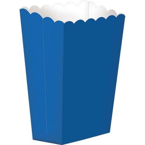 Bright Royal Blue Small Paper Popcorn Boxes pack of 5.