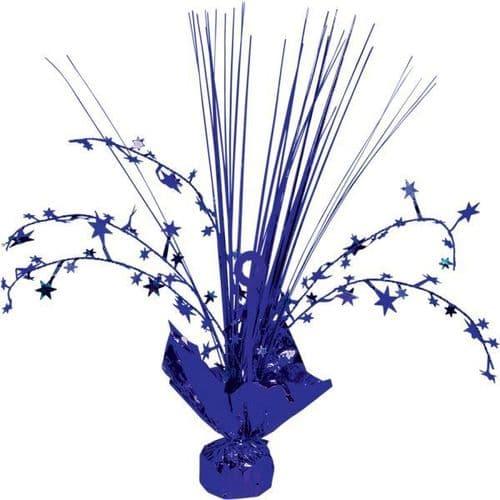 Bright Royal Blue Spray Centrepiece 30cm