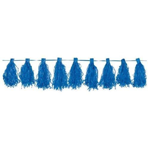 Bright Royal Blue Tassel Garlands 3m