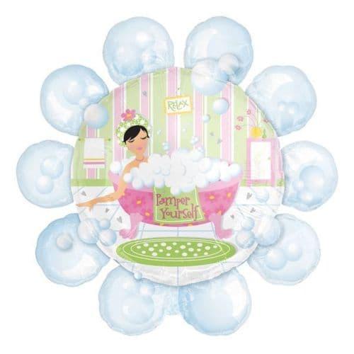 Bubble Bath Pamper SuperShape Foil Balloon