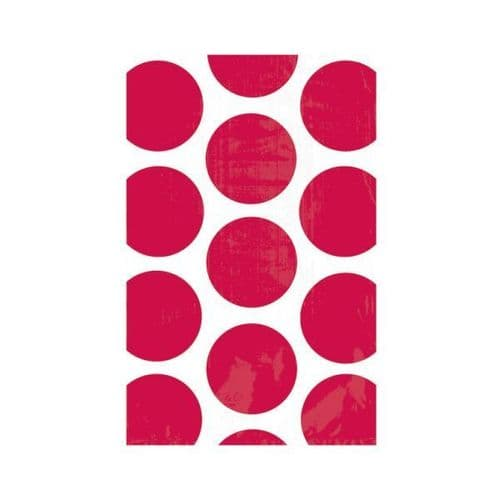 Candy Buffet Polka Dots Treat Bags Apple Red/10