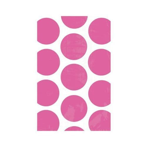 Candy Buffet Polka Dots Treat Bags Bright Pink/10