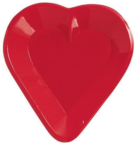 Card Night Heart Plastic Snack Tray