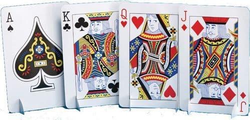 Card Night Stand-Up Centrepiece Set
