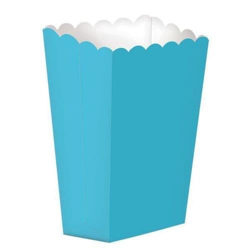 Caribbean Blue Large Paper Popcorn Boxes/10