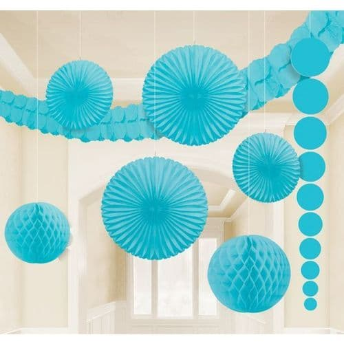 Caribbean Blue Room Kit Decorations