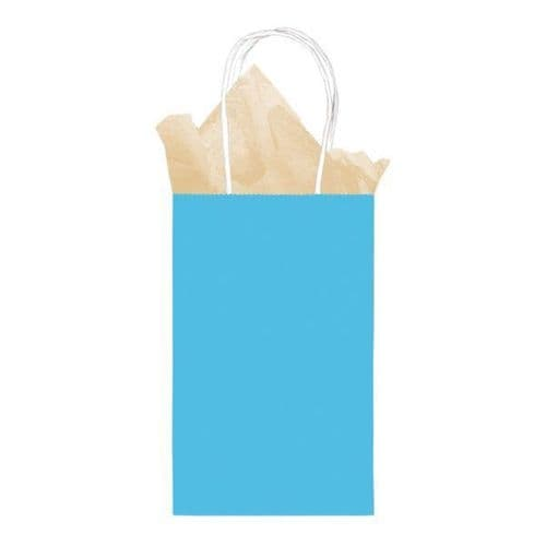 Caribbean Blue Small Gift Paper Bags