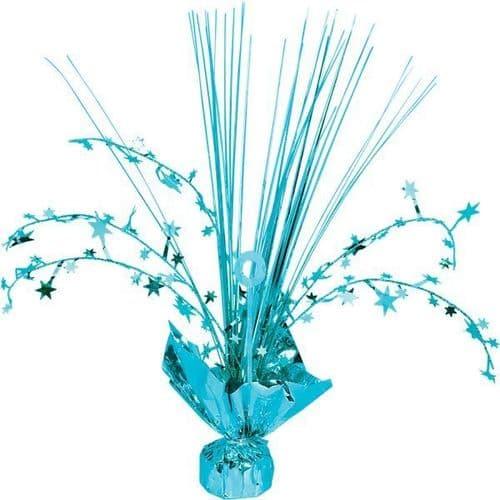 Caribbean Blue Spray Centrepiece 30cm