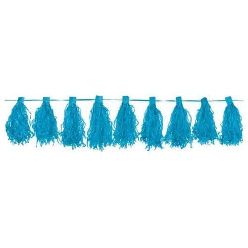 Caribbean Blue Tassel Garlands 3m